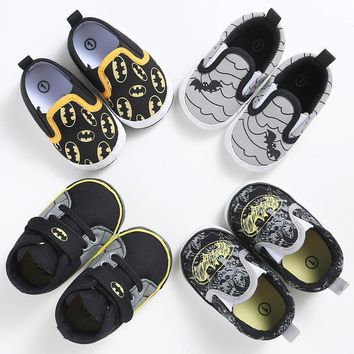 Batman Dark Knight gift Christmas Fashion Baby Shoes Boys Toddler Cartoon Batman Canvas Kids Footwear Casual Sneakers Crib Babe First Walkers 0-2T DS9 AT_71_6