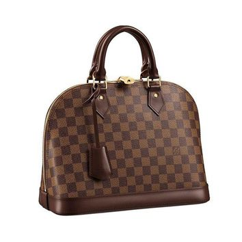 DCK4S2 Louis Vuitton Damier Canvas Alma PM Tote Handbag Article: N53151 Made in France
