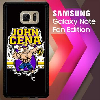 John Cena Cenation Cartoon V0479 Samsung Galaxy Note FE Fan Edition Case