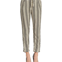 Free People Striped Beach Trousers