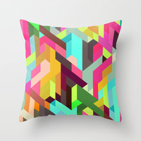 City 04. Throw Pillow by Three Of The Possessed