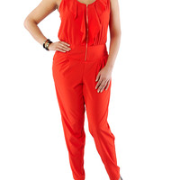 Plus-Size Ruffle Jumpsuit - Rainbow