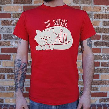 The Snuggle Is Real [Cat] Men's T-Shirt