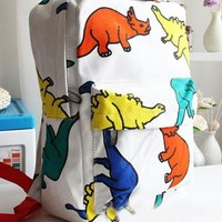 Leisure Cartoon Dinosaur Print Backpack