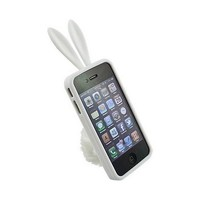 Bunny Cover Case for Apple iPhone 4, White