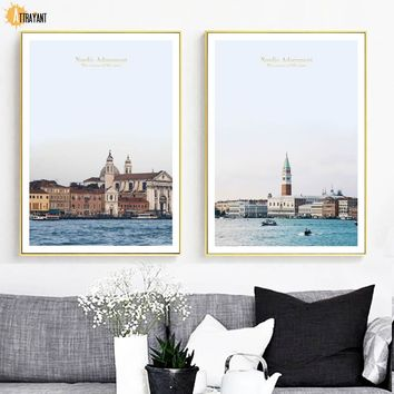 Italy Venice Piazza San Marco Wall Art Canvas Painting Nordic Posters And Prints Wall Pictures For Living Room Bedroom Decor