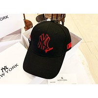 MLB 2019 new embroidery classic NY letter men and women sports baseball cap Black
