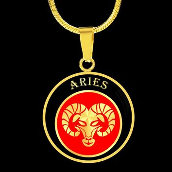 Beautiful Personalized Elegant Aries Zodiac Astrology Necklace and Bangle