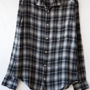 bsbee black gregory check simple shirt