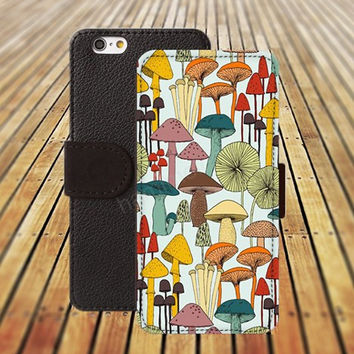 iphone 5 5s case Cartoon mushrooms iphone 4/ 4s iPhone 6 6 Plus iphone 5C Wallet Case , iPhone 5 Case, Cover, Cases colorful pattern L115