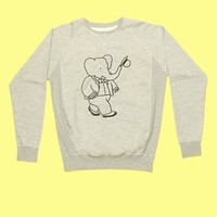 BABAR MEETS SOULLAND EMBROIDERY BIG BABAR SWEATSHIRT - WOMEN - TOPS - BABAR MEETS SOULLAND