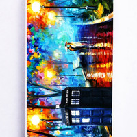 Tardis Doctor Who Painting for Iphone 5C Hard Cover Plastic