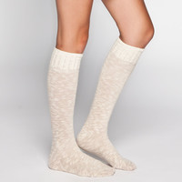 Crochet Top Womens Knee Hi Socks 222813426 | Socks