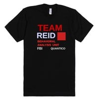 J-Team Reid-Unisex Black T-Shirt
