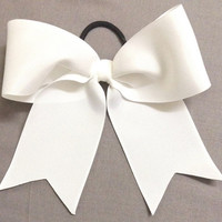 Solid White Cheer / Softball / Volleyball  Bow
