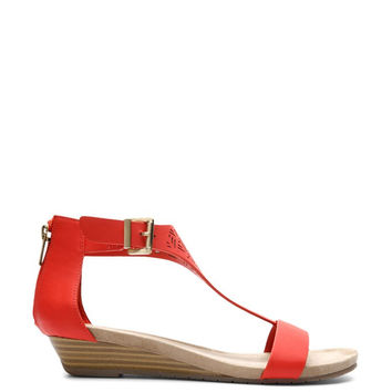 Kenneth Cole REACTION Women's Great Gal 3 Wedge Sandal Coral 6 B(M) US '