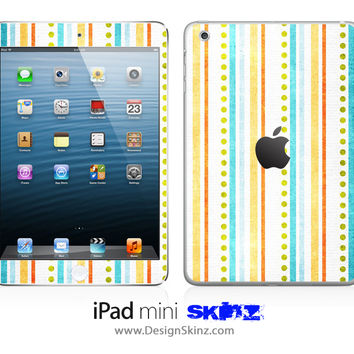 Vintage Vertical Stripes iPad Skin