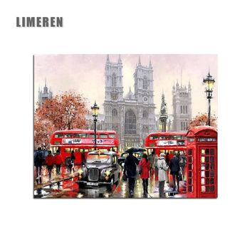 New UK London Landscape Pictures By Numbers DIY Handpainted Wall Painting New Gift Coloring By Number Arts For Home Decor