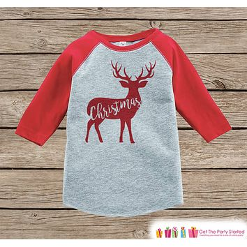 Kids Christmas Outfit - Kids Holiday Shirt or Onepiece - Winter Outfit - Deer Shirt - Holiday Family Shirts - Kids, Baby, Toddler, Youth