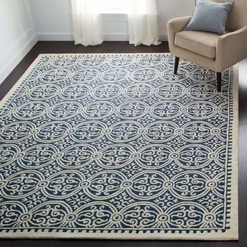 Safavieh Handmade Moroccan Cambridge Navy Blue Wool Rug - Free Shipping Today - Overstock.com - 14967220