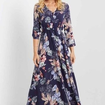 Seleena Button Down Maxi Dress