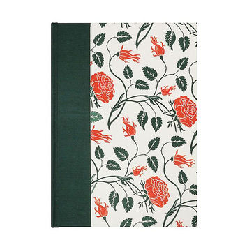 Address Book Large Letterpress Wild Rose