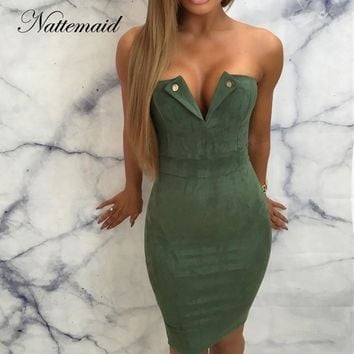 NATTEMAID Sexy Bodycon Summer Dress Women Elegant Vintage Dress Night Party Off Shoulder Dress Vestidos 2018 Clearance Sale