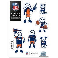 Denver Broncos Family Decal Set Small 2FFSD020