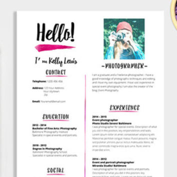 elegant rsum template 2 pages resume cover letter 1 page references cv - Resume Format Doc 1 Page