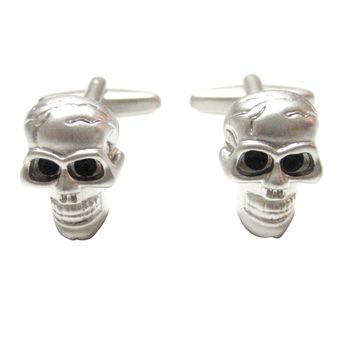 Satin Look Skull Cufflinks