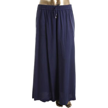 Lauren Ralph Lauren Womens Side Split Pockets Maxi Skirt