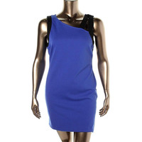 Impulse Womens Ponte Contrast Trim Clubwear Dress