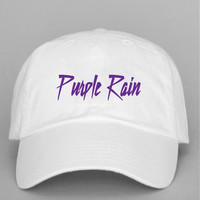Purple Rain Strap Back Hat