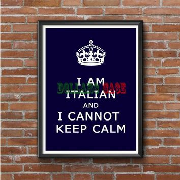Keep Calm (italian cannot) Photo Poster
