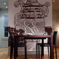 Vinyl Wall Decal Sticker Traditional Japanese Building #342
