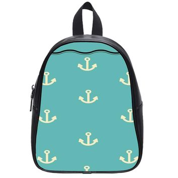 Anchor Pattern School Backpack Large