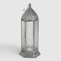 Medium Clear Glass Raya Tabletop Lantern
