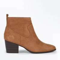 Tan Suedette Western Ankle Boots | New Look