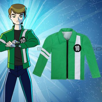 Ben 10 Jacket Aliens Force Boys Cosplay Benjamin Kirby Tennyson Ten Ben10: Race Against Time Clothing Kids Halloween Costumes