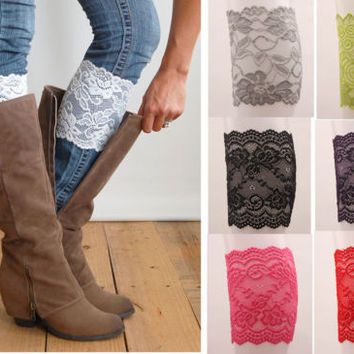 Women Girl Ladies Lady Lace Sexy Boot Cuffs Leg Warmers Boot Socks Accessories