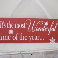 Christmas Sign,, Christmas Decor, It's the most wonderful time of the year...