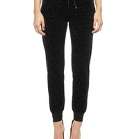 Leopard Velour Slim Comfy Pant by Juicy Couture