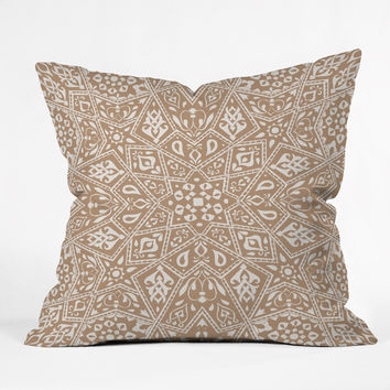 Aimee St Hill Amirah Neutral Outdoor Throw Pillow