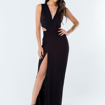 Oh My Goddess Cut-Out Maxi Dress