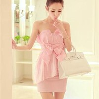 Shining nice pink dress from Fanewant