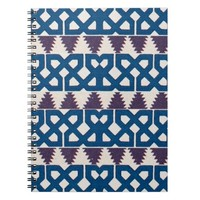 Moor African Arabic Pattern Design Blue Purple Journal