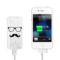Geekery Mustache Pocket Power Bank back up battery for iPhone and Galaxy Mobile Phone