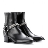 saint laurent - rock leather ankle boots