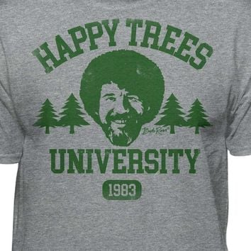 Bob Ross Happy Trees University Official Licensed T-Shirt