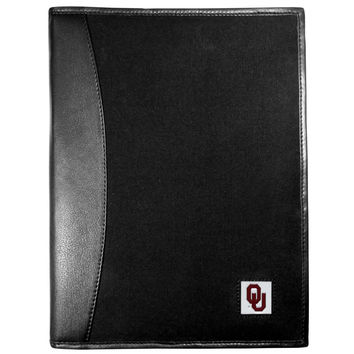 Oklahoma Sooners Leather and Canvas Padfolio CPAD48